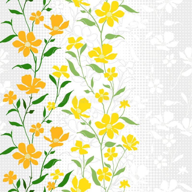Gewebe Pattern-Floral-3 vektor abbildung