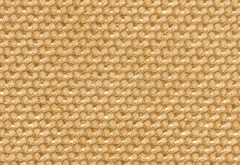 Gewebe Ritz Sandfarbe, Beschaffenheitshintergrundhohe auflösung stock abbildung