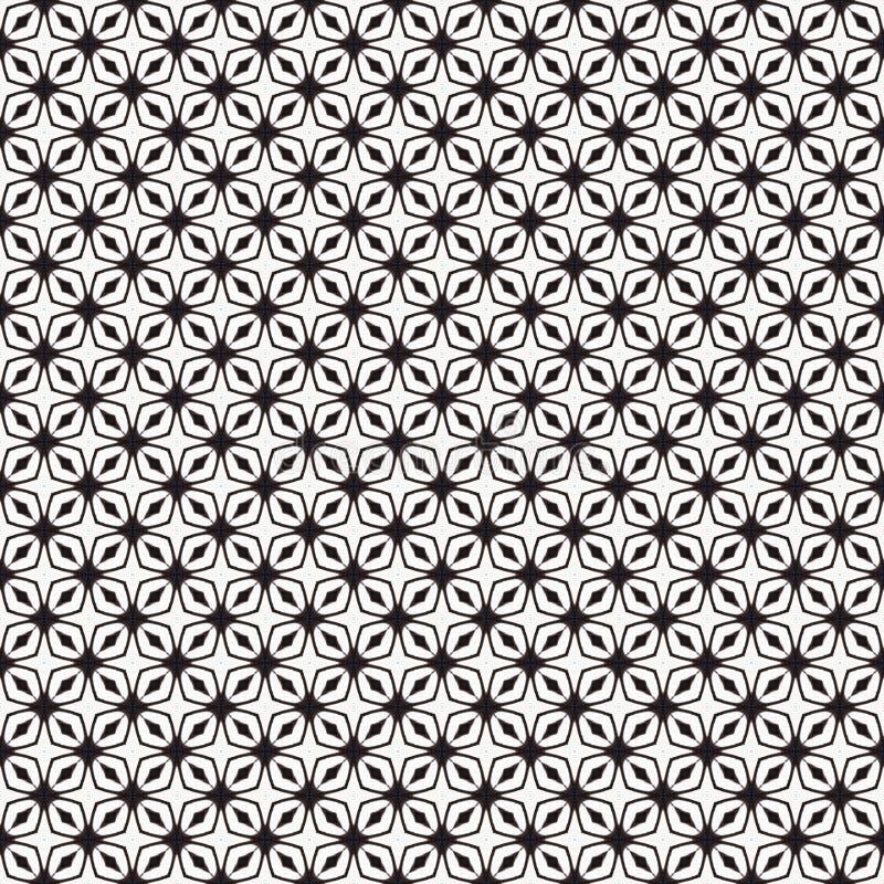 Gewebedruck Geometrisches Muster in der Wiederholung Nahtloser Hintergrund, Mosaikverzierung, ethnische Art stock abbildung
