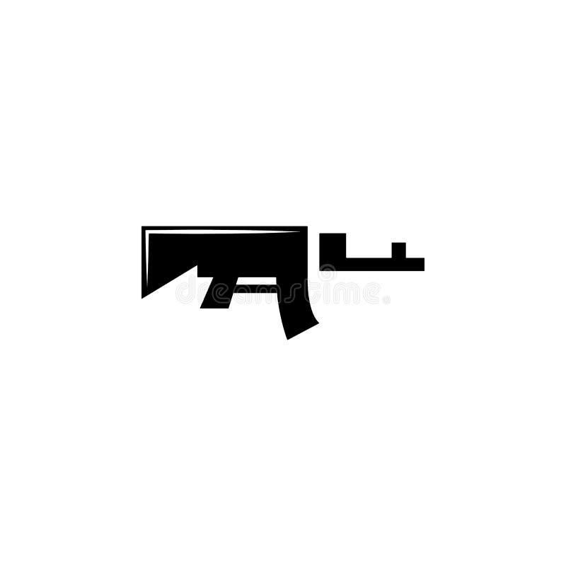 geweer, wapen 04 pictogram Element van militaire illustratie Tekens en symbolenpictogram voor websites, Webontwerp, mobiele toepa vector illustratie
