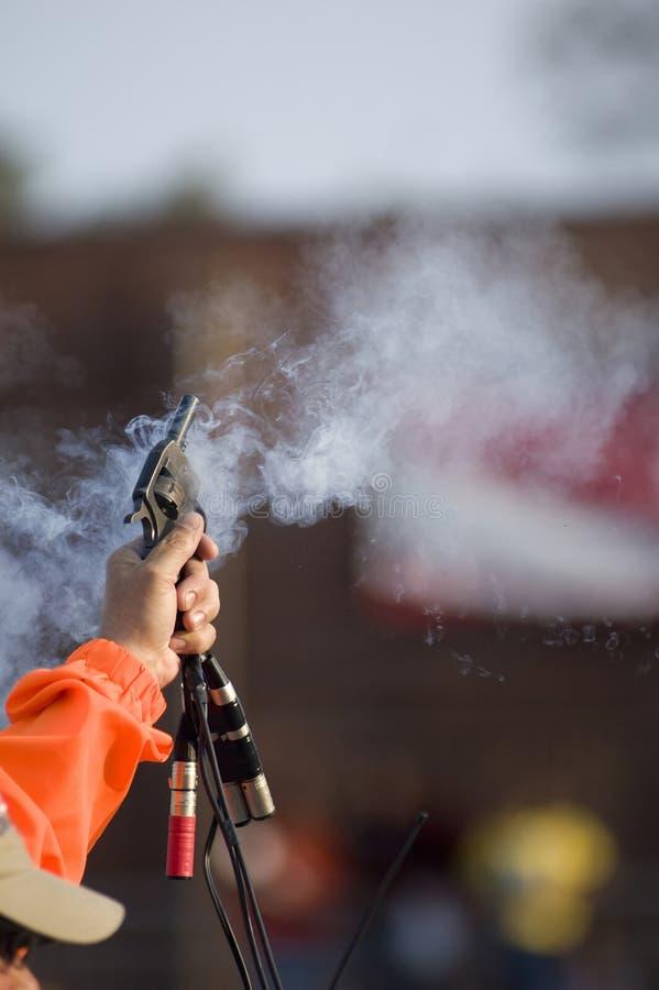 Gewehr des Starters stockbilder
