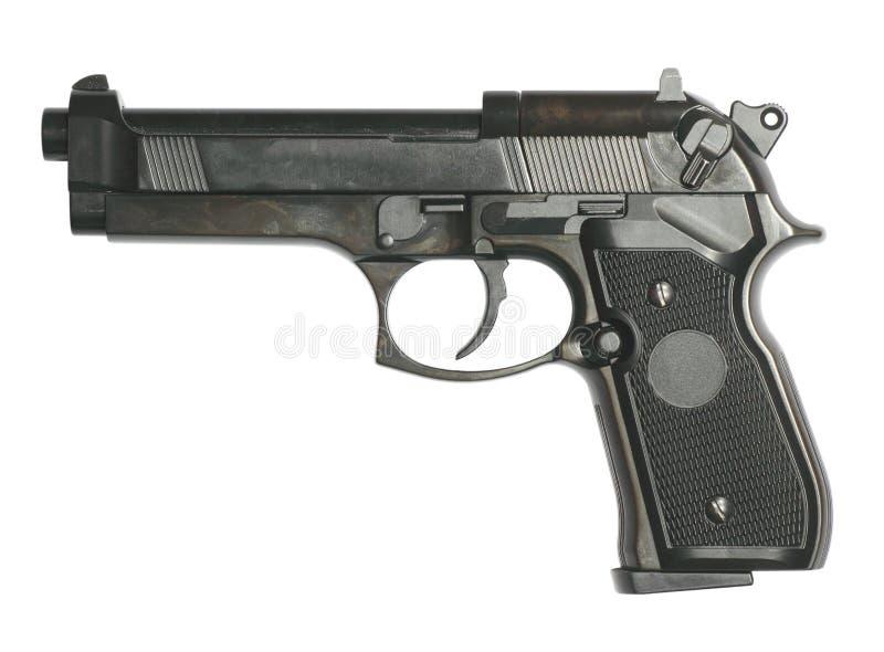 Gewehr getrennt auf Weiß lizenzfreies stockbild