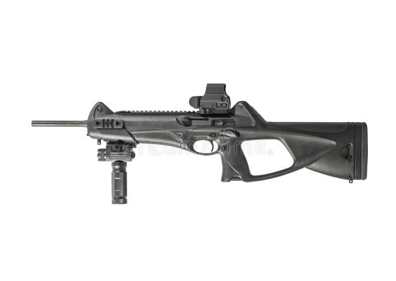 Gewehr-Karabiner 9mm lokalisiert auf dem weißen Hintergrund gelassen lizenzfreie stockfotos