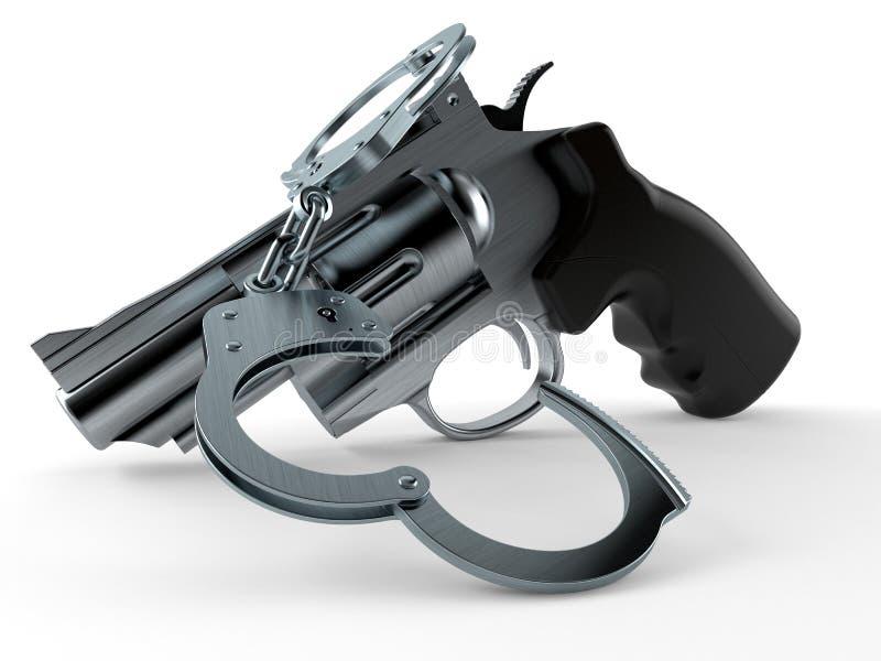 Gewehr mit Handschellen vektor abbildung