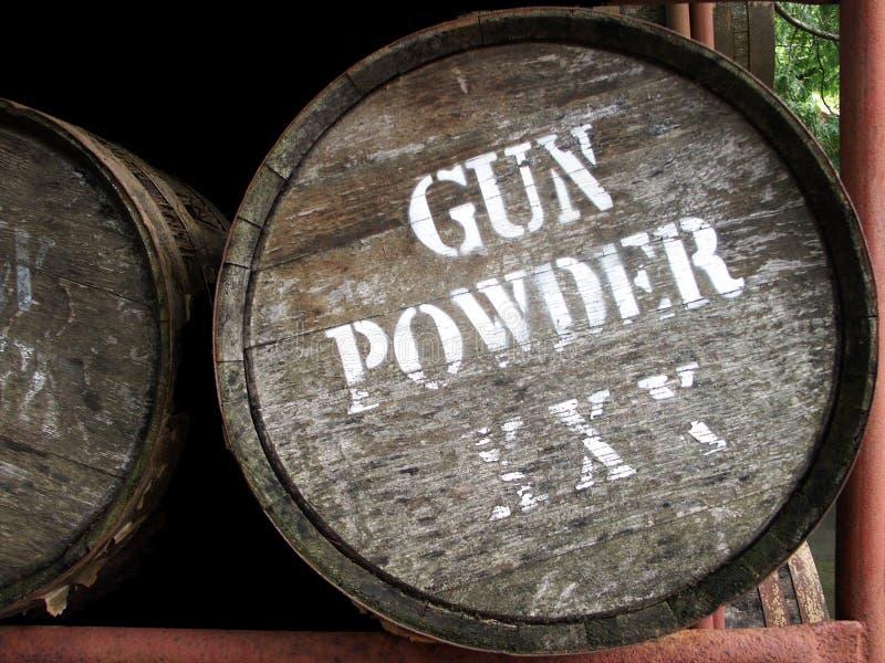 Gewehr-Puder-Faß lizenzfreie stockbilder