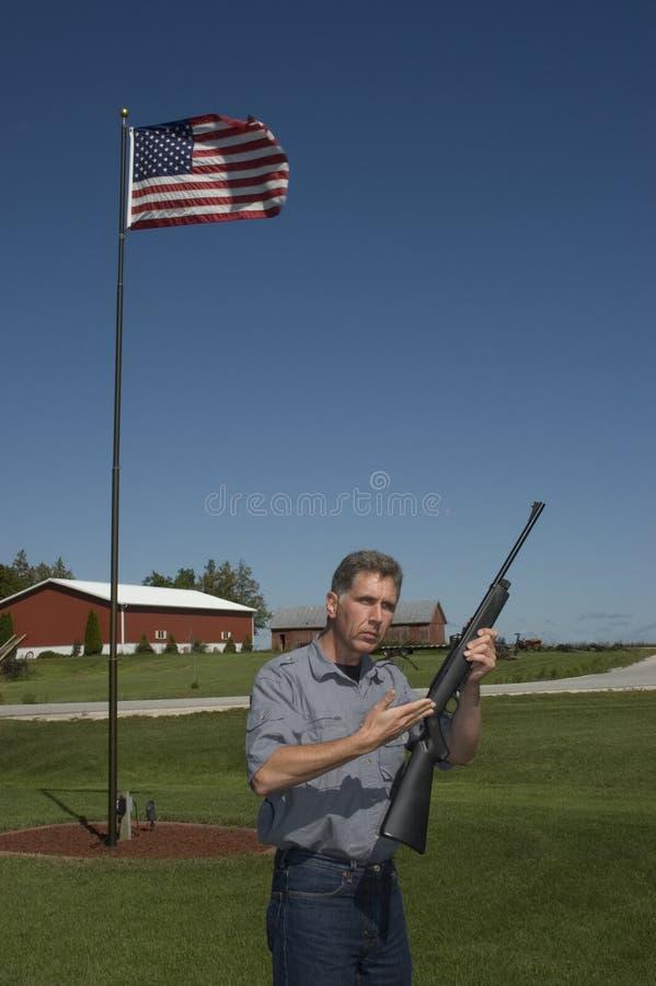 Gewehr-Sicherheits-Ausbilder stockfotografie