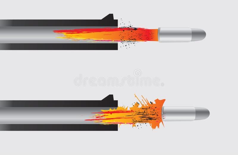 Gewehr, welche die Gewehrkugel abfeuert lizenzfreie abbildung
