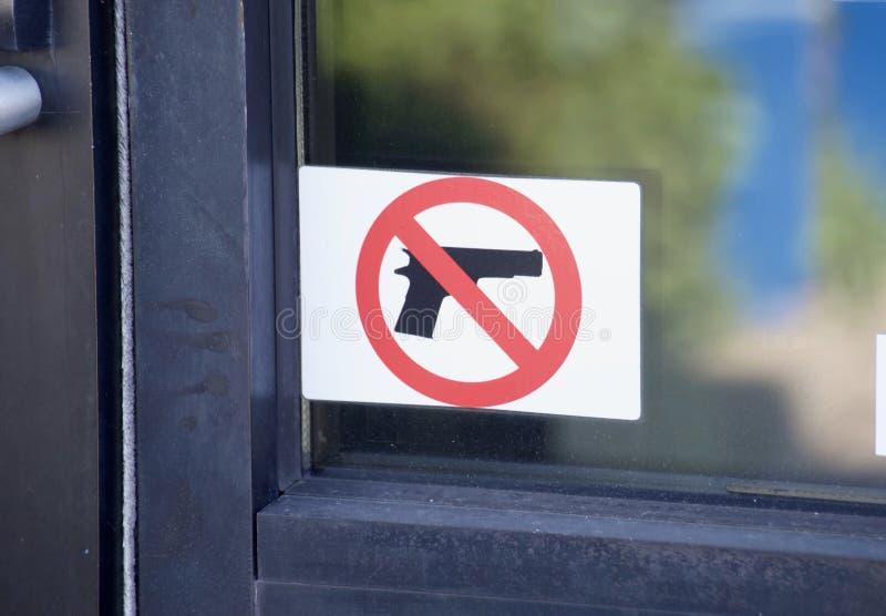 Gewehre, Feuerwaffen und Waffen verboten lizenzfreies stockfoto