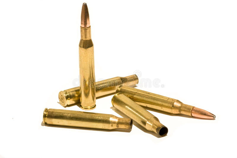 Gewehrkugeln lizenzfreie stockbilder