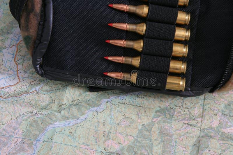 Gewehrkugeln In Einer Tasche Lizenzfreie Stockbilder