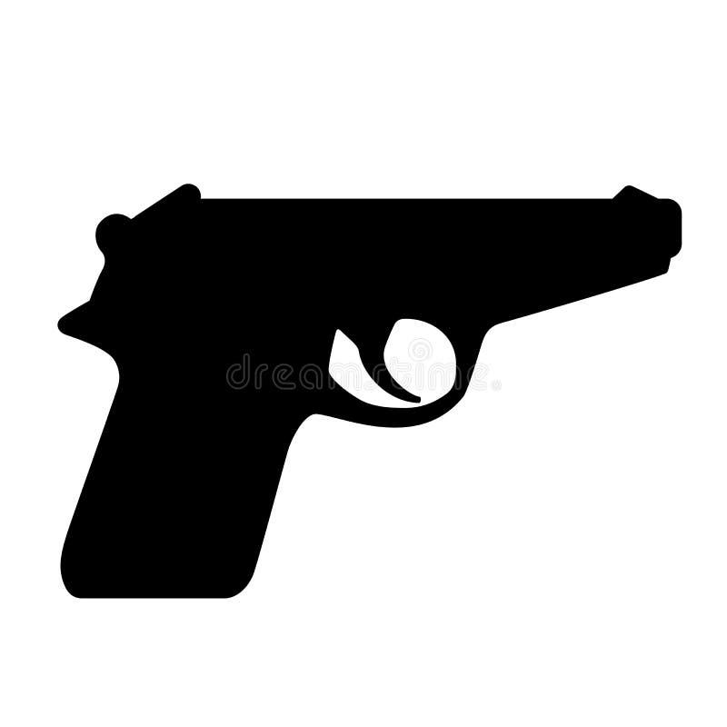 Gewehrschattenbild-Vektorikone vektor abbildung