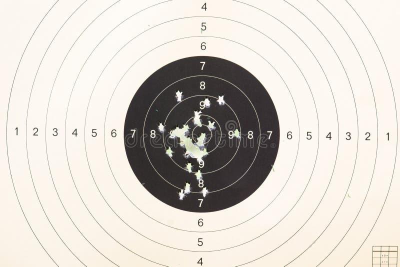 Gewehrziel geschossen durch Kugeln lizenzfreies stockfoto