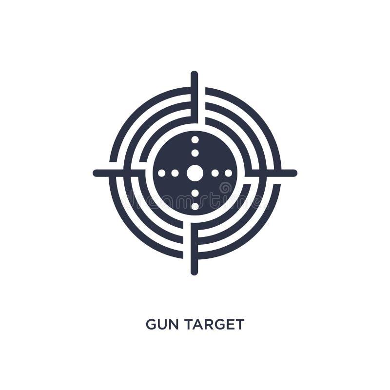Gewehrzielikone auf weißem Hintergrund Einfache Elementillustration vom Produktivitätskonzept stock abbildung