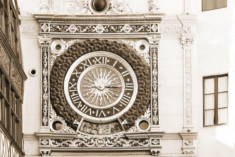 Geweldige klok in Rouen stock foto's