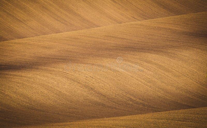 Gewellte Herbstfelder in Moravian Toskana, Tschechische Republik stockbilder
