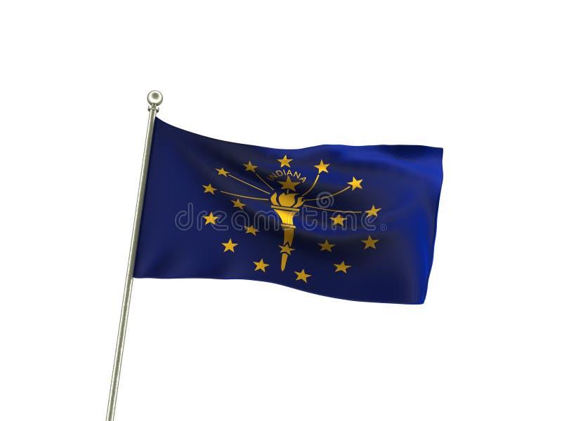 Gewellte Indiana Flag vektor abbildung