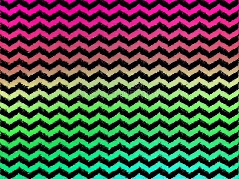 Gewellte Sparren Ombre auf schwarzem Hintergrund lizenzfreies stockfoto