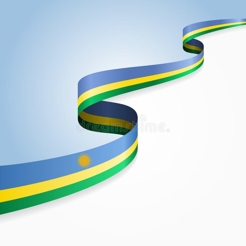 Gewellter abstrakter Hintergrund der ruandischen Flagge Auch im corel abgehobenen Betrag lizenzfreie abbildung