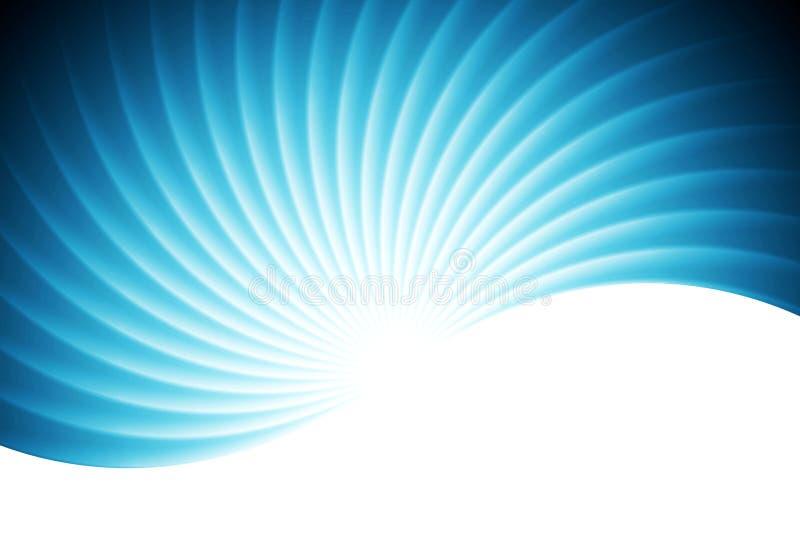 Gewellter blauer Vektorhintergrund des abstrakten Strudels vektor abbildung