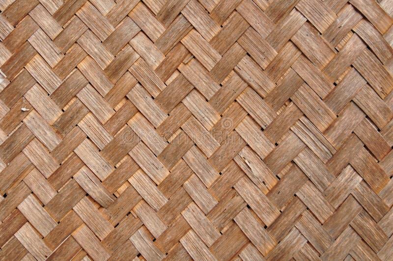 Geweven bamboe stock fotografie