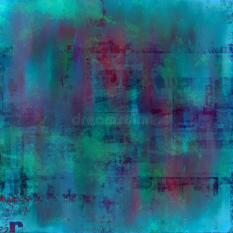 Geweven blauwe stedelijke grunge stock illustratie