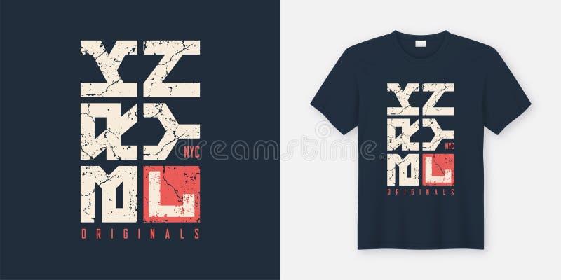 Geweven de t-shirt en de kledingsontwerp van Brooklyn New York, typograph royalty-vrije illustratie