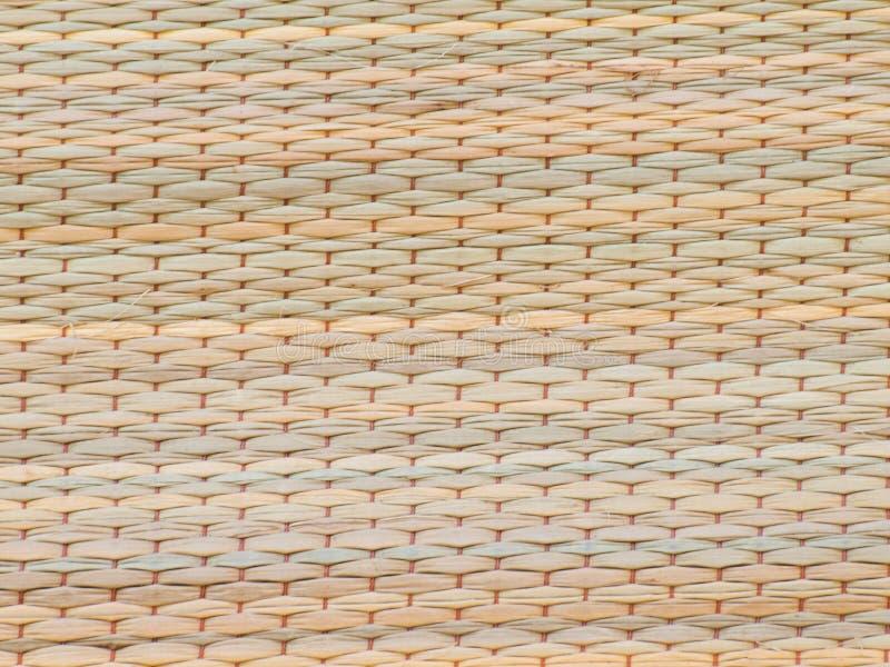 Geweven die rietmatten van natuurlijk worden gemaakt royalty-vrije stock foto