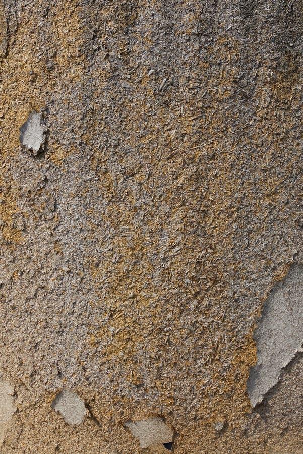 Geweven doorstane beschadigde houten spaanplaat grunge achtergrond stock foto's