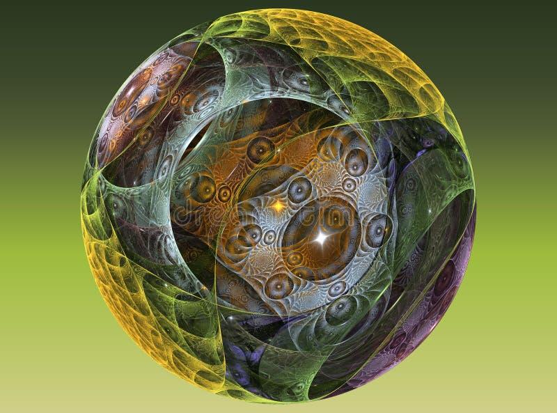Geweven glas chrystal bal vector illustratie