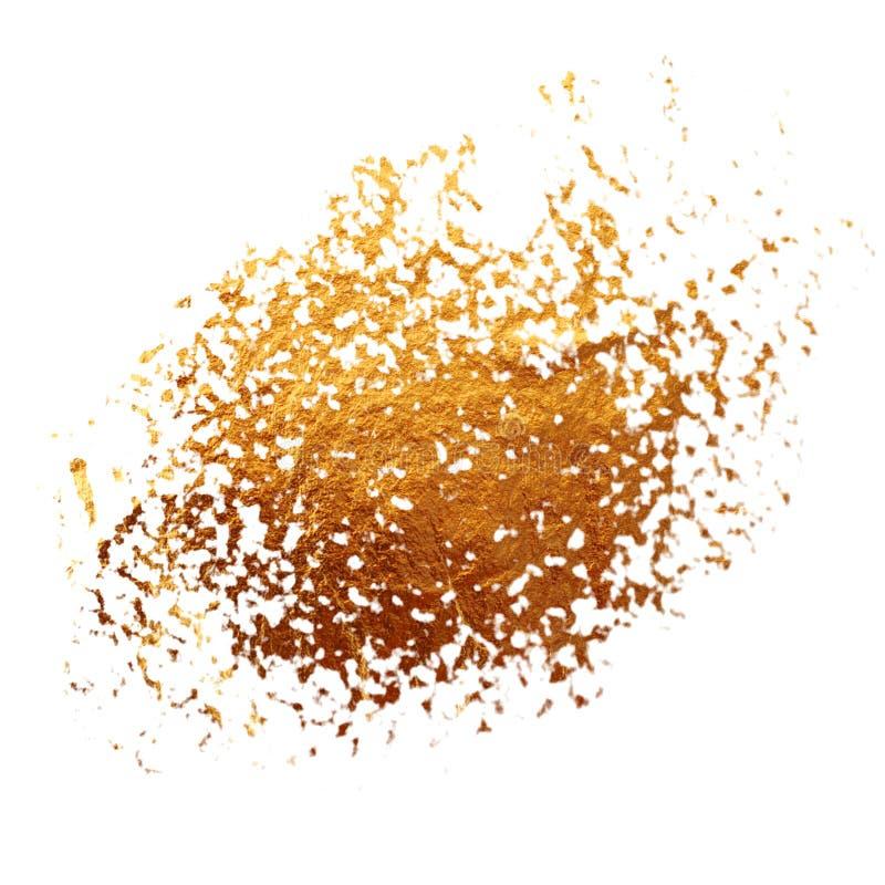 Geweven gouden vlek stock illustratie