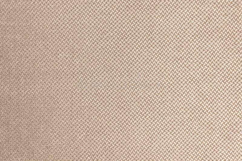 Geweven grote beige textiel als achtergrond Textuur van textielstoffenclose-up stock afbeeldingen