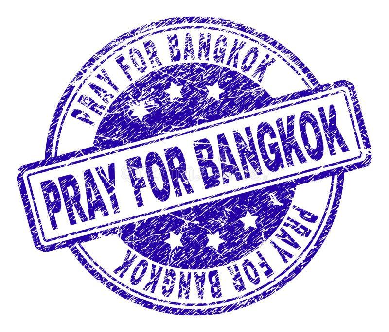 Geweven Grunge BIDT VOOR de Zegelverbinding van BANGKOK vector illustratie