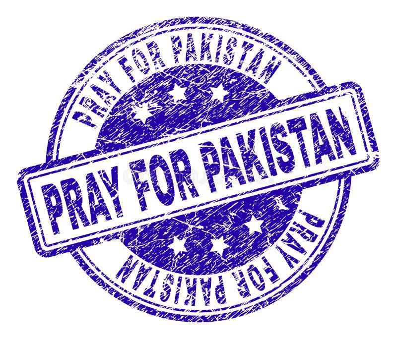 Geweven Grunge BIDT VOOR de Zegelverbinding van PAKISTAN stock illustratie