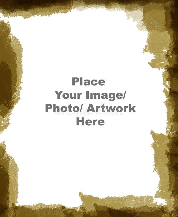 Geweven het frame van Grunge grens stock illustratie