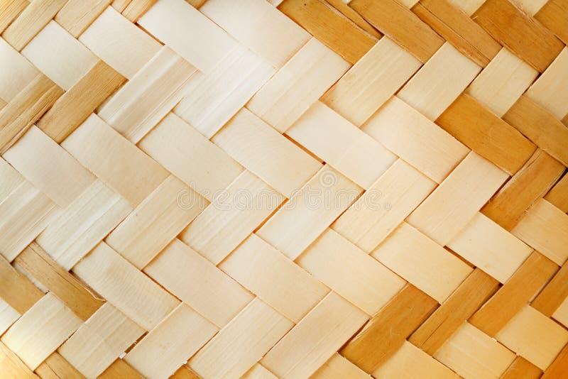 Geweven houten patroon stock foto