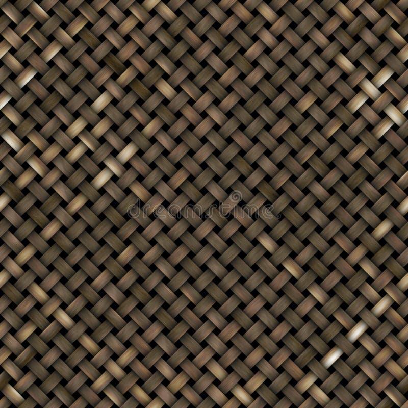 Geweven houten textuur stock illustratie