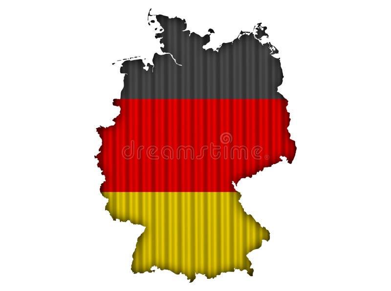 Geweven kaart van Duitsland in aardige kleuren royalty-vrije illustratie