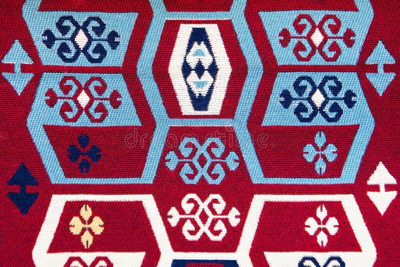 Geweven katoenen deken met vele kleuren royalty-vrije stock foto's