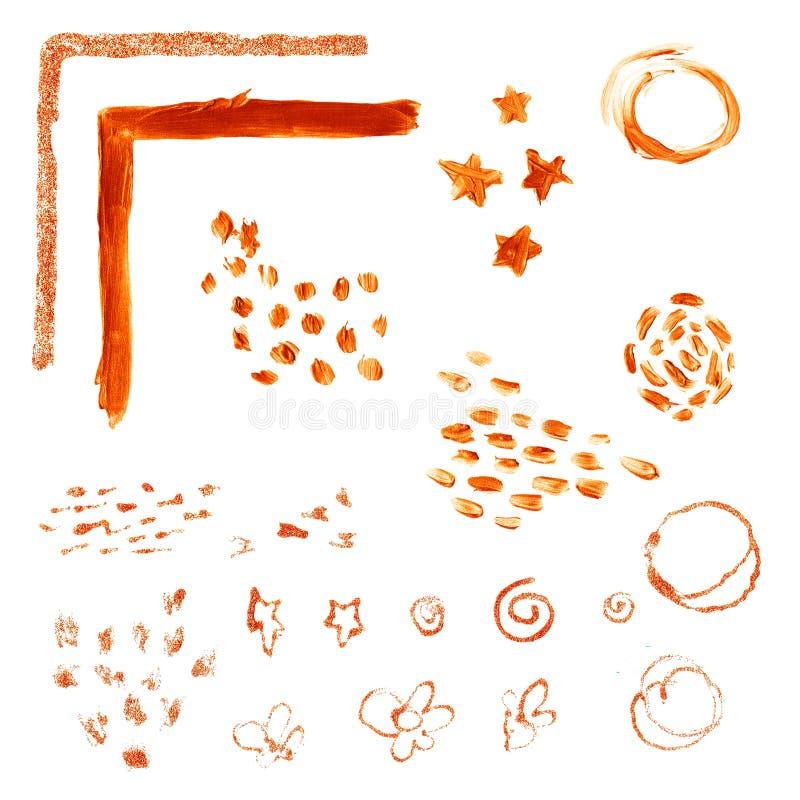 Geweven kopervlek vector illustratie