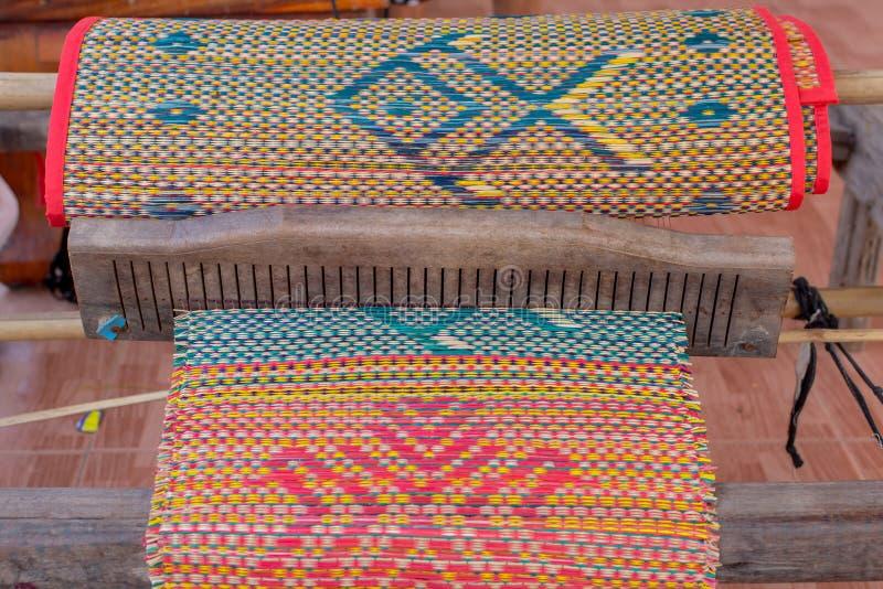 Geweven met de hand gemaakte matten stock fotografie