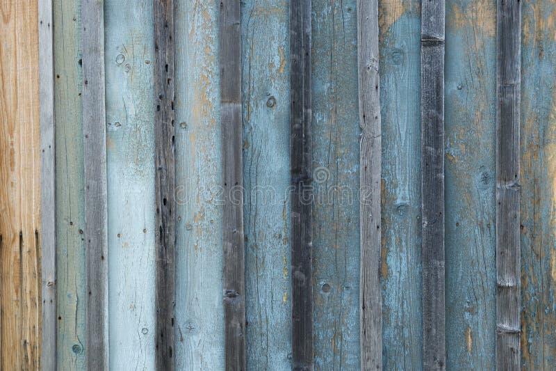 Geweven oude doorstane houten blauwe en grijze raad royalty-vrije stock foto's