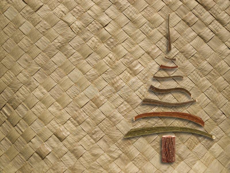 Geweven patroon met Kerstmisboom stock afbeelding