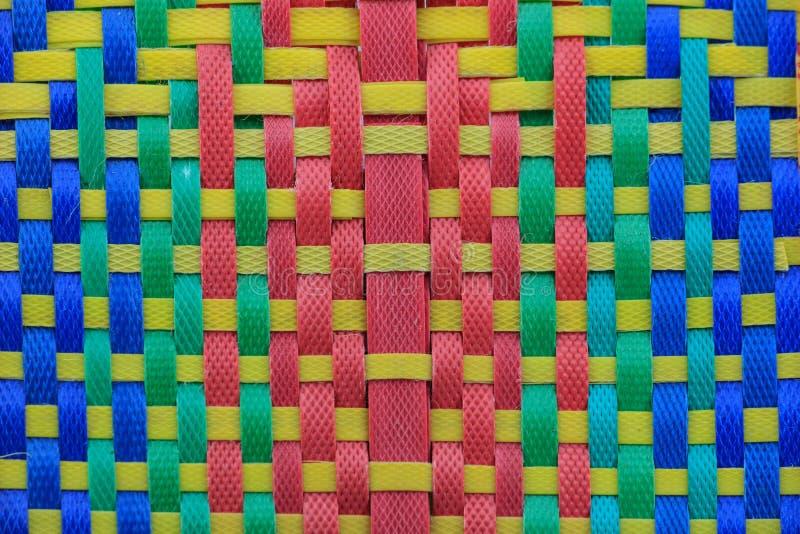 Geweven patroon van polypropyleen stock foto