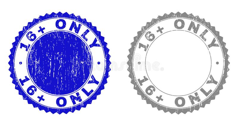 Geweven 16 plus SLECHTS Grunge-Zegelverbindingen royalty-vrije illustratie