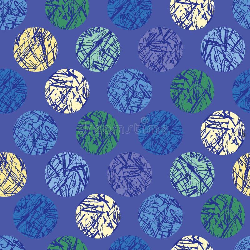Geweven Polka Dots Seamless Vector Pattern Background royalty-vrije illustratie