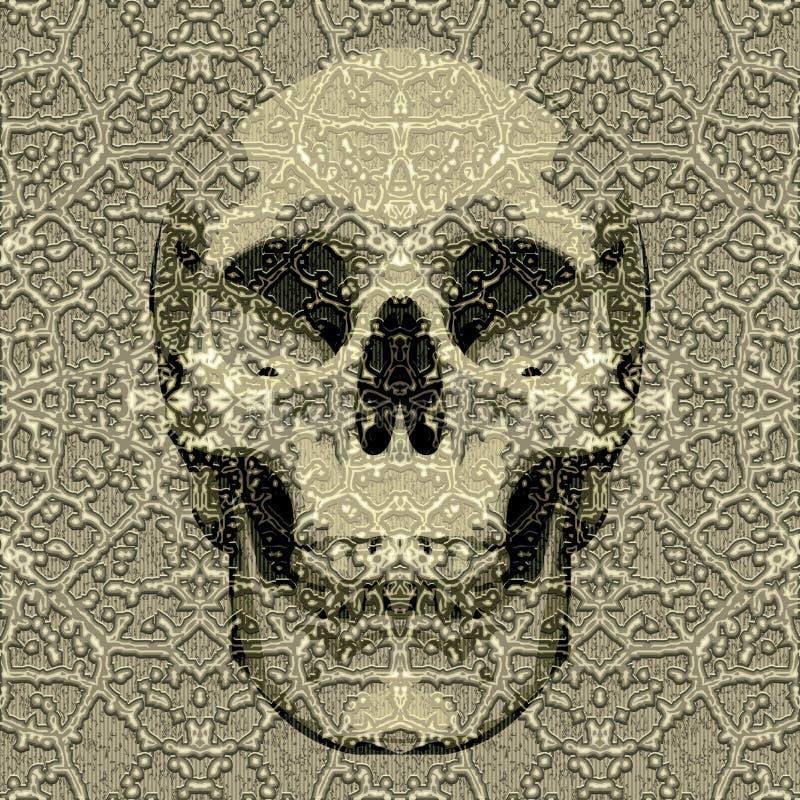 Geweven schedel royalty-vrije illustratie