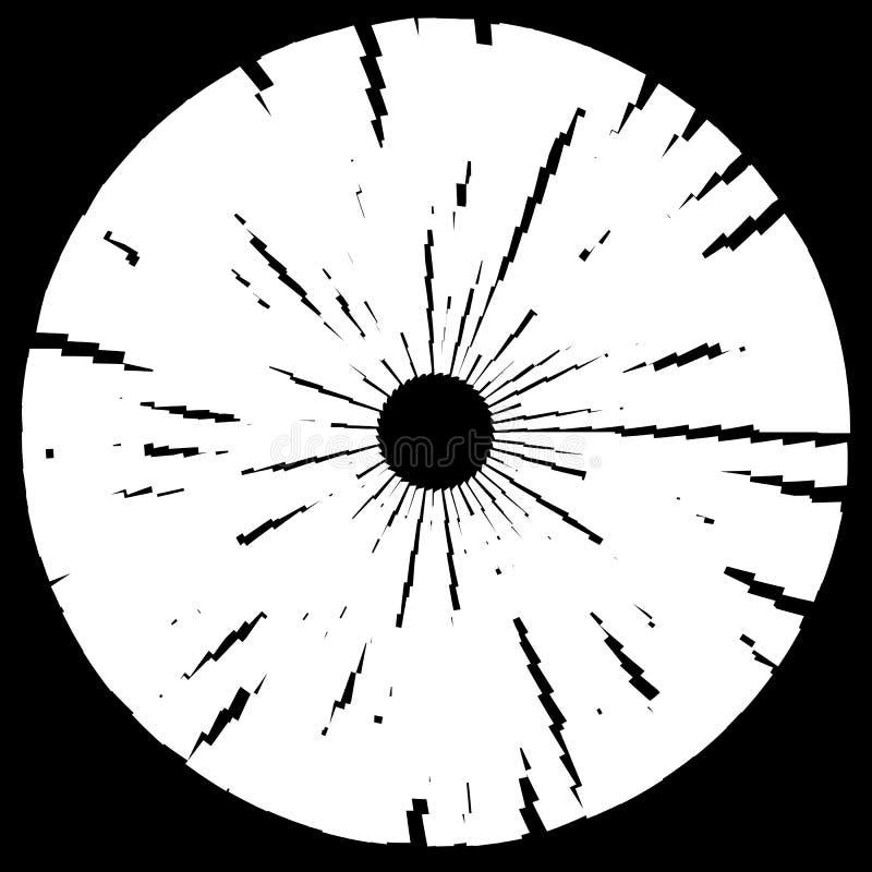 Geweven schijf, cirkelelement Zwart-wit geometrische vorm royalty-vrije illustratie