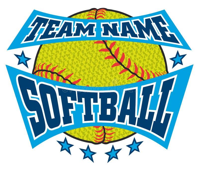 Geweven Softball Team Name Design vector illustratie