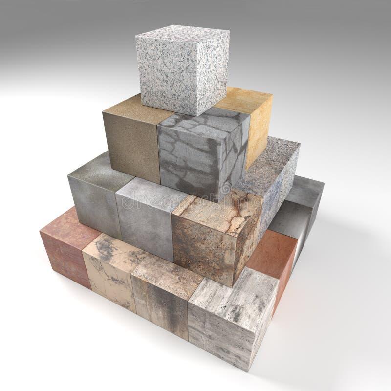 Geweven steenkubussen vector illustratie