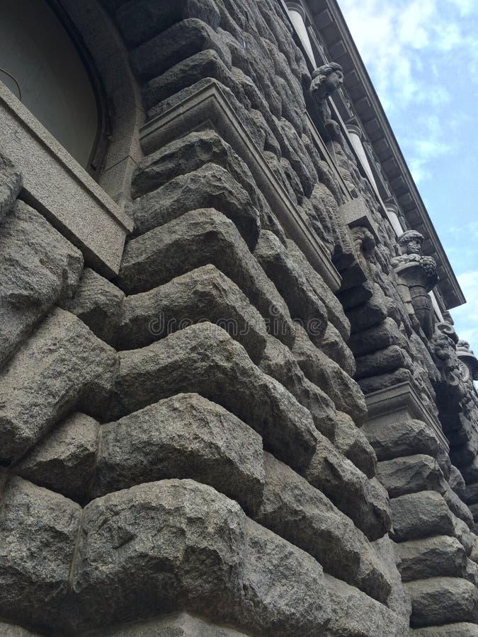Geweven steenmuur van het gebouw in St. Petersburg royalty-vrije stock afbeelding